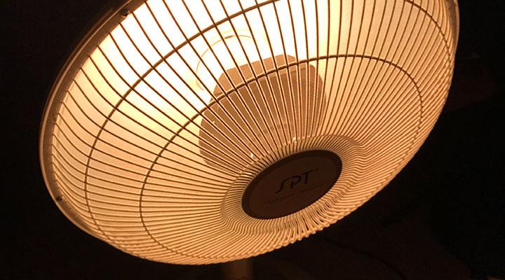 扇風機型のヒーター